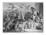 Summoned to the Royal Court by King Noble (The Lion) the Animals Gather for Reinecke&#39;s Trial
