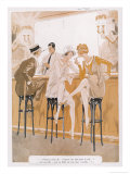 Two Flappers Gossip at a Bar