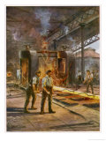 Rolling Steel in a British Steelworks