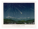 &quot;Shooting Stars&quot;  The Meteorite Shower of November 1872 Seen Over Hills