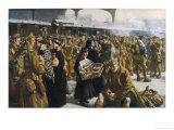 British Troops Returning to France after Leave