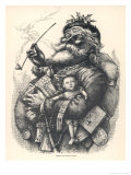 Pot-Bellied Father Christmas with Lots of Presents
