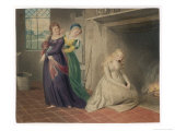 Cinderella by the Fireside is Taunted by Her Two Sisters Before Leaving for the Ball