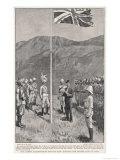 Hong Kong: Hoisting the British Flag at Taipo in the Kowloon Hinterland