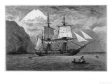 Hms &quot;Beagle&quot; the Ship in Which Charles Darwin Sailed in the Straits of Magellan