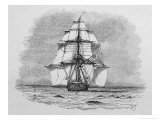 Hms Beagle Among Porpoises Charles Darwin&#39;s Research Ship