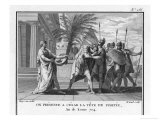 The Head of Pompeius Treacherously Murdered in Egypt is Brought to His Opponent Caesar