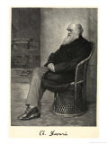 Charles Darwin English Naturalist Sitting in a Chair