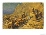 During the Exodus Moses Strikes a Rock and Obtains a Supply of Water for the Israelites