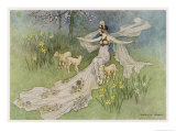 The Fairy Coquette  with Three Wolves Which She Has Just Transformed into Lambs