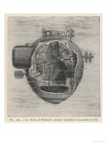 "Bushnell's ""Turtle"" the First Submersible Craft to be Used in Action Attacking a British Ship"