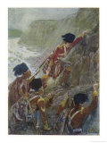 Quebec: The British Troops Scale the Heights of Abraham