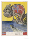 Terrified by German U-Boats the English Pretend to be Neutral