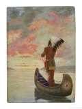 Hiawatha&#39;s Departure: Hiawatha Sails Westward into the Sunset