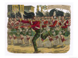 Lieutenant Macpherson Leads a a Charge by the 78th Highlanders to Capture Enemy Guns at Lucknow
