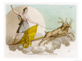 Crossing the Night Sky in Her Deer-Drawn Chariot