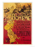 Puccini, la Bohème Reproduction d'art par Adolfo Hohenstein