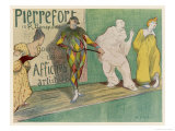 Poster Depicting Entertainers  Singers Commedia del Arte