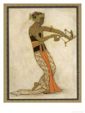 Javanese Dancer Drawing a Bow in a Highly Stylized Movement