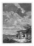 Benjamin Franklin's Conducting His Lightning Experiments in Philadelphia