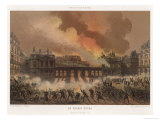 The Burning of the Palais Royal Paris Severely Damaged by the Communards