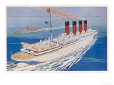 Passenger Liner of the Cunard White Star Line She Held the Blue Riband for 21 Years