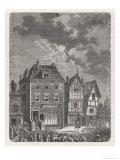 Benjamin Franklin's First Lightning Conductor on Benjamin West's House