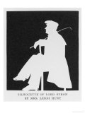 George Gordon Lord Byron a Silhouette of the English Romantic Poet in Profile Sitting on a Chair