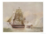 Naval Action off Candia Engagement Between the British Warship Leander and the French Le Genereux