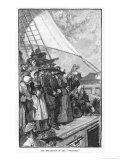 William Penn and Other Quakers Sail to the New World in the Welcome