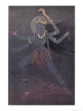 The Goddess Kali the Malevolent Aspect of Shiva's Wife Parvati