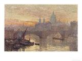 Southwark Bridege with Boats