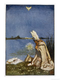 Lohengrin and the Dove of the Holy Grail Who Will Tow His Boat (Replacing the Swan) to Monsalvat