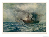 Engagement Between the Federal Steam-Sloop Kearsarge and the Confederate War-Steamer Alabama