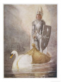 Lohengrin Arrives in a Boat Drawn by Elsa&#39;s Brother Godfrey