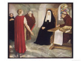 Saint Hilda of Whitby Anglo-Saxon Abbess Receiving a Visit from Caedmon
