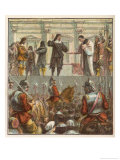 King Charles I Prepares for His Execution on the Scaffold in Front of the Palace of Whitehall