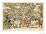 String Trio in the Garden with a Potential Brass Player Waiting for His Opportunity on the Right