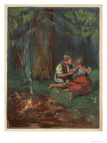 Hansel Tries to Comfort Gretel: They are All Alone at Night in the Wood
