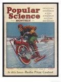 Swiss-American Inventor Thomas Avoskan's Motor Cycle with Skates Giclée premium par Frank Murch