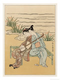 Two Japanese Lovers Play the Shamisen