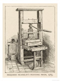 Benjamin Franklin&#39;s Printing Press