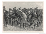United States Cavalrymen Mounting During the Fighting Against Native Americans