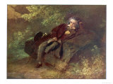 Ludwig Van Beethoven Beethoven Sitting in Some Woods