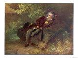 Ludwig Van Beethoven Beethoven Sitting in Some Woods