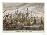 At Salamis the Greek Fleet Defeats the Persian Fleet