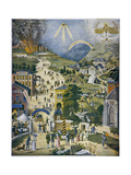 The Broad and Narrow Way, the Narrow Road to Heaven Contrasted with the Broad Way to Hell Giclée