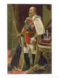 Edward VII British Royalty in His Coronation Robes