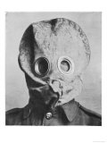 "British Soldier in ""Anti-Gas Helmet""  Gas Mask"