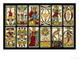 Tarot Selection from the Traditional Marseille Pack